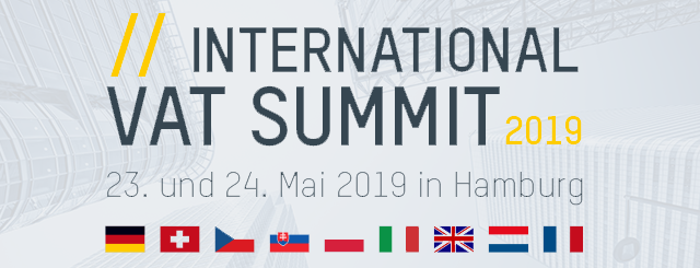Leitbild mit Länderflaggen zum International VAT Summit 2019